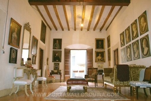 Gorgeous palace from the 17th century in the center of Soller