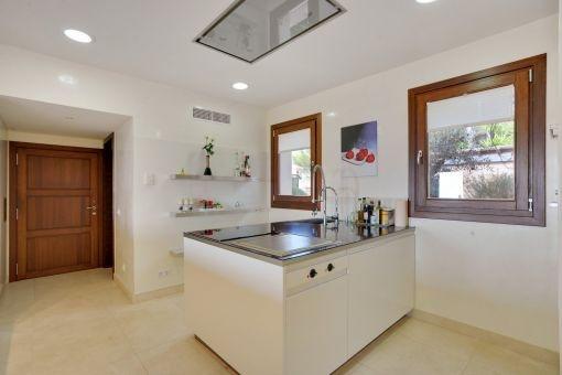 Elegant kitchen with cooking island