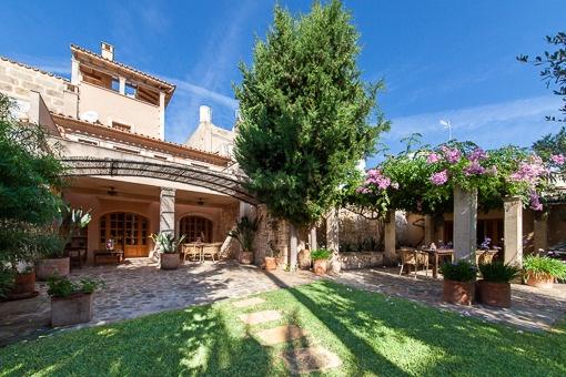 Beautiful garden and terrace