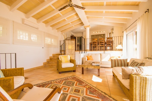 Living area on the upper floor