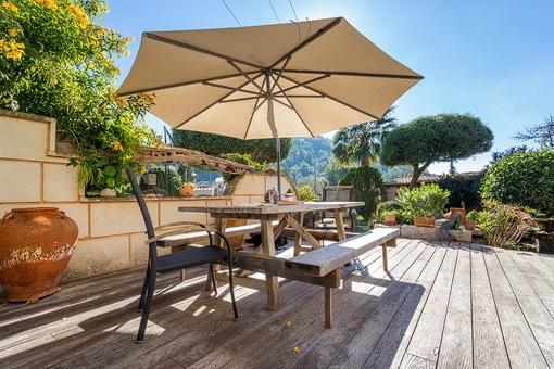 Idyllic terrace with lounge area