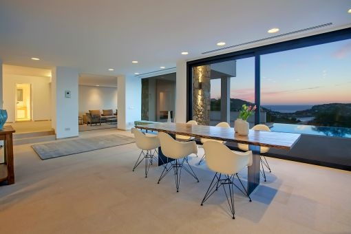Unique sea views from the dining area