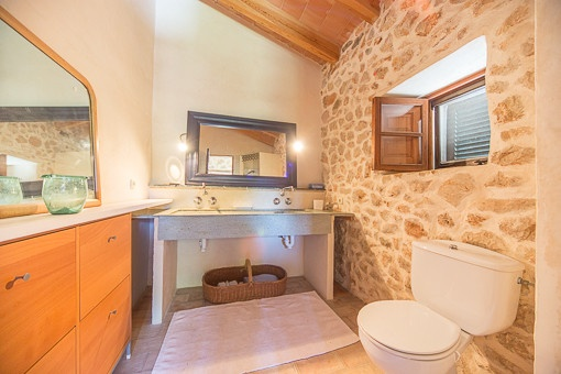 Bright bathroom with mediterranean elements
