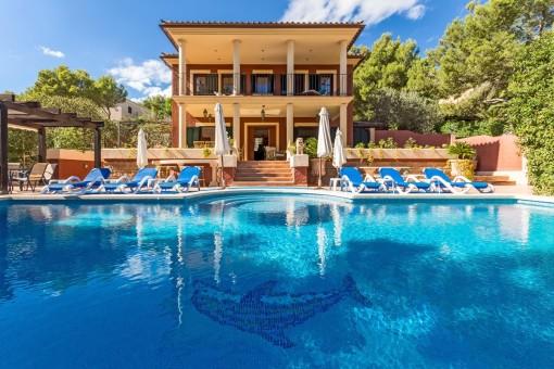 Villa with guest apartment close to the beach in Costa de la Calma