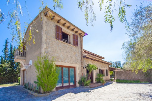 Comfortable natural-stone Finca near Arta with private horse enclosure