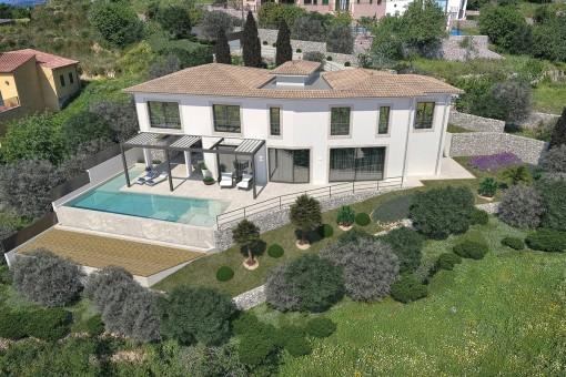 Modern family villa with panorama views in Calvia