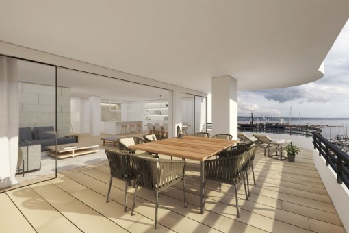 Impressive, high quality apartment, exclusively designed and with views over the Paseo Maritimo