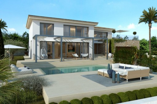 Modern, newly-completed luxury villa in an excellent location in Santa Ponsa