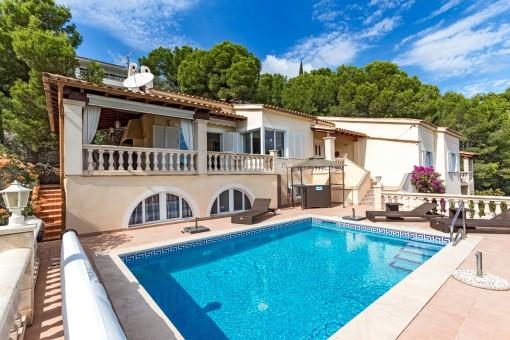 Villa with superb sea views in Costa d'en Blanes