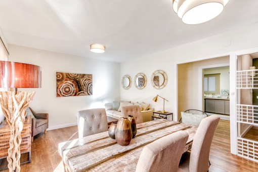 Beautifully-distributed, furnished apartment directly on the Paseo Maritimo