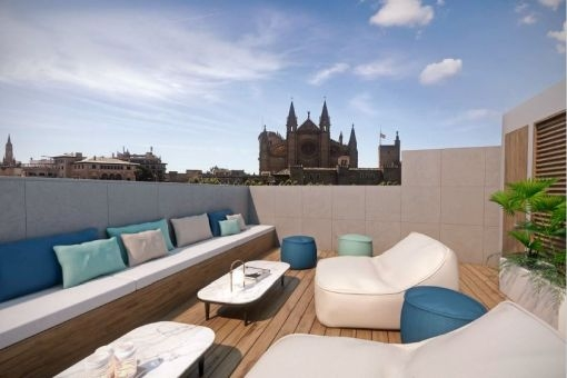 Exclusive duplex apartment with 2 terraces and sea and cathedral views in Palma - La Lonja