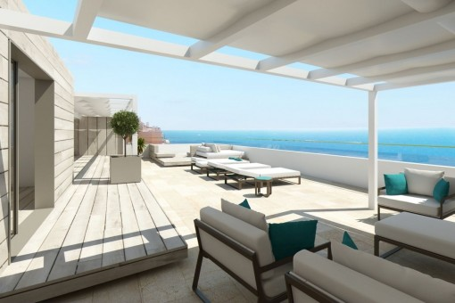 Penthouse-project with wonderful sea views in Illetes
