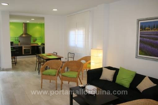 Duplex apartment with views over the marina and close to beach