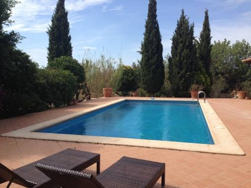 Amazing, furnished natural stone country house with pool and oil heating in Llucmajor