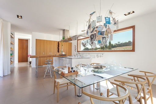 Open dining area beside the kitchen
