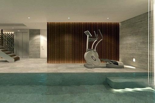 Exclusive indoor spa with pool and sauna