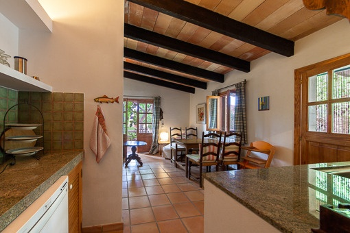 Open kitchen with views to the living area