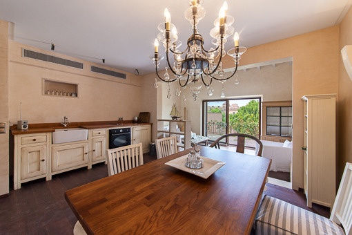 Dining area with garden views