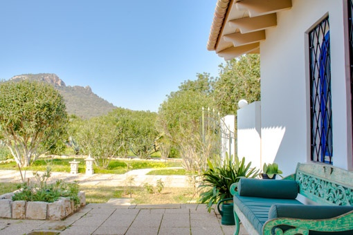 Panoramic mountain views from the terrace
