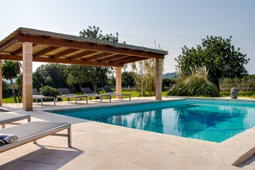 Pool with lounge area