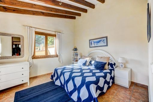 Bright bedroom from the guest house