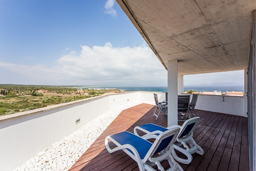 Unique sea views from the terrace