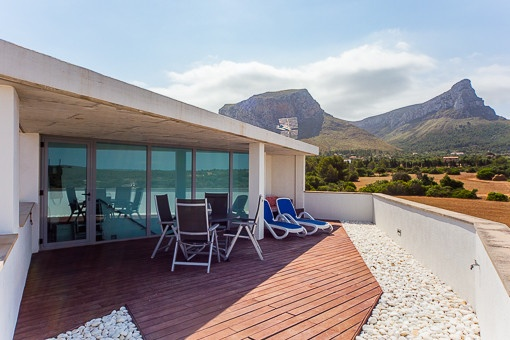Mountain views from the villa