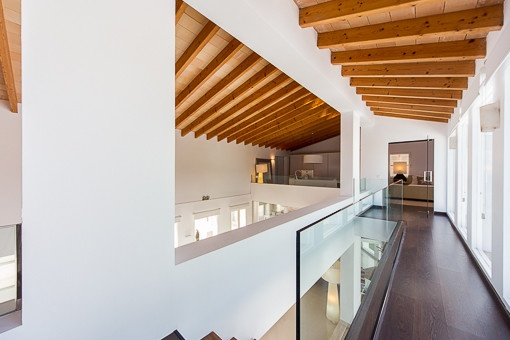 Gallery with views to the living area