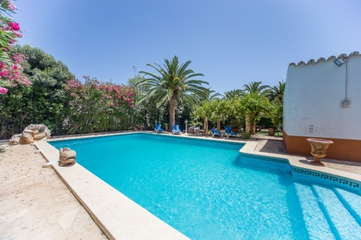 Exclusive pool area