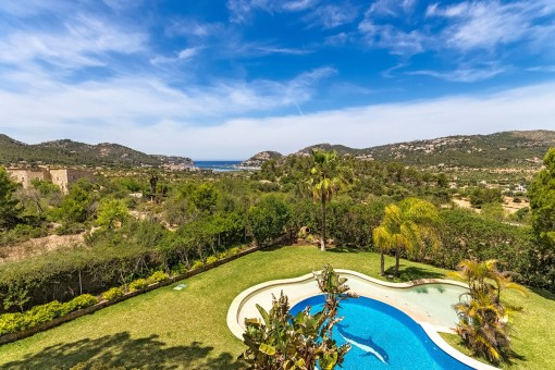 Tremendous Finca property near Puerto Andraitx with views of the harbour and absolute privacy