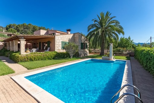 Idyllic Finca with beautiful pool and garden near to the harbour of Andratx