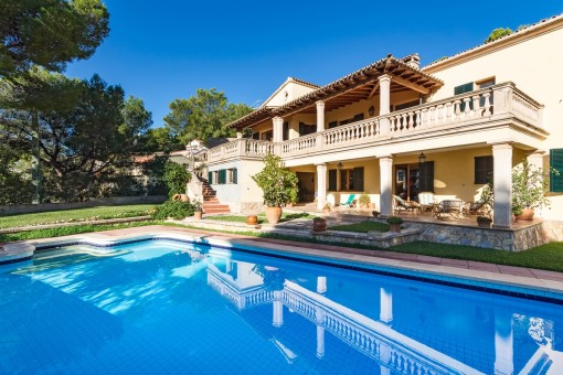 Mallorcan villa in a very desirable residential area in Costa d'en Blanes