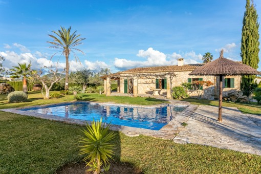 Enchanting country house-style villa with pool near Pollenca