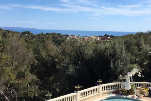 Villa with impressive views in Costa d'en Blanes
