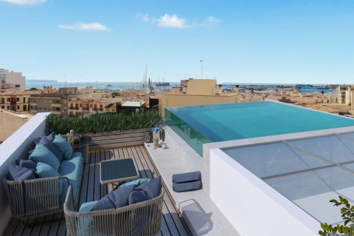 Exclusive apartment with roof terrace, pool and wonderful views in Santa Catalina
