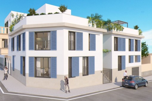 New town house with roof terrace and pool in Son Espanyolet