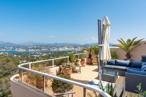 Stunning sea view apartment in Santa Ponsa