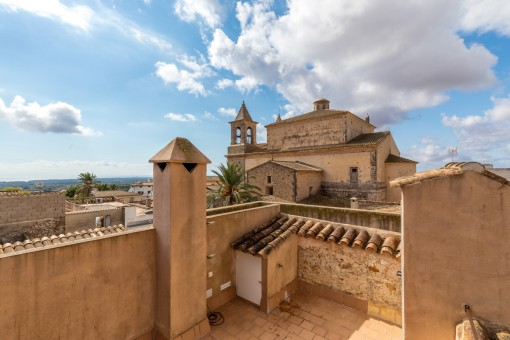 Gorgeous views over the rooftops of  S'Alqueria Blanca