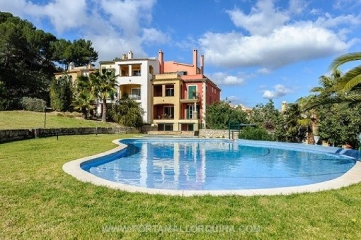 Very beautiful apartment in a quietly-situated residential complex in Santa Ponsa