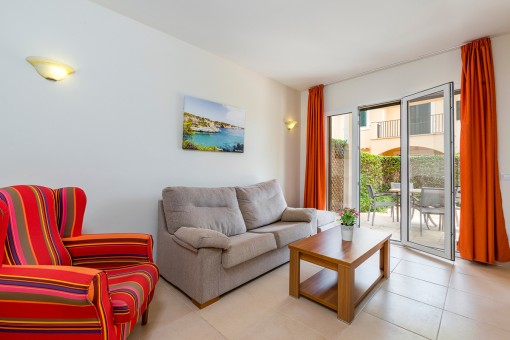 Modern ground floor apartment with garden in beautiful residential complex in Sa Ràpita
