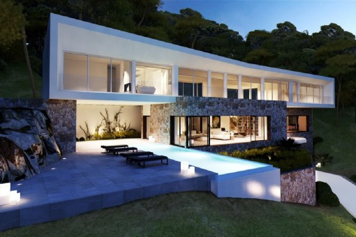 A fantastic new villa project in Portals Vells with beautiful sea views