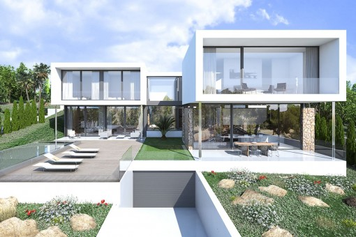 Fantastic new 4-bedroom villa project with swimming pool in Sol de Mallorca