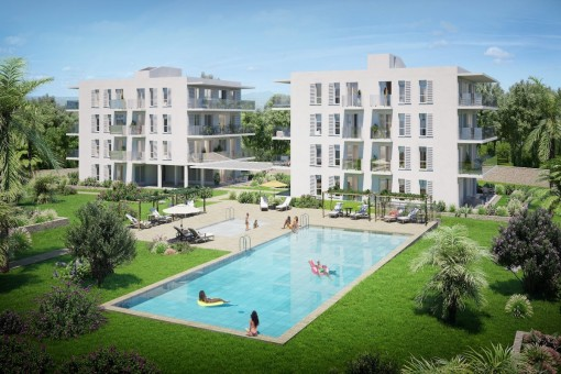 New apartment complex close to the port in Cala D'or