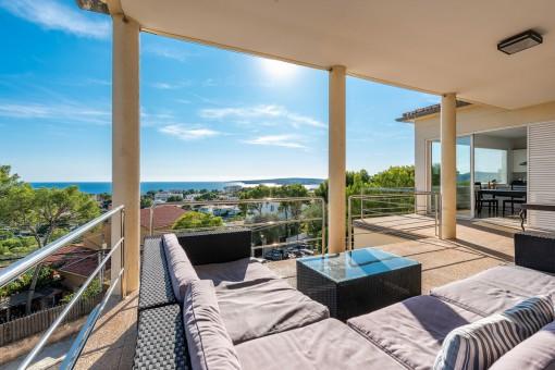Spectacular villa with breathtaking sea views...